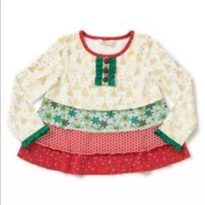 Matilda Jane Girls Size 6 Yuletide Tunic Top
